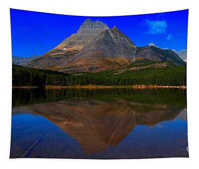 Deep Blue Over Fishercap Tapestry