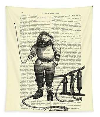 Deep Sea Diver Tapestry