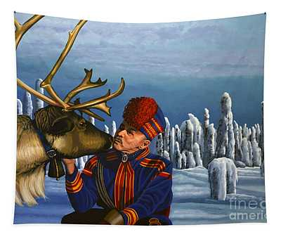 Deer Friends Of Finland Tapestry