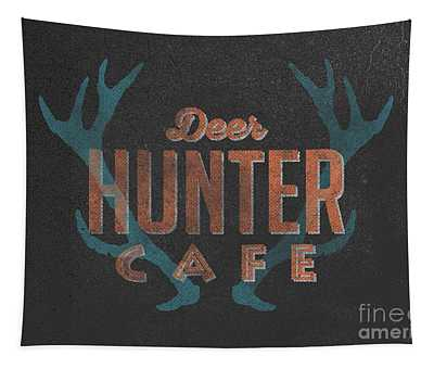 Deer Hunter Cafe Tapestry