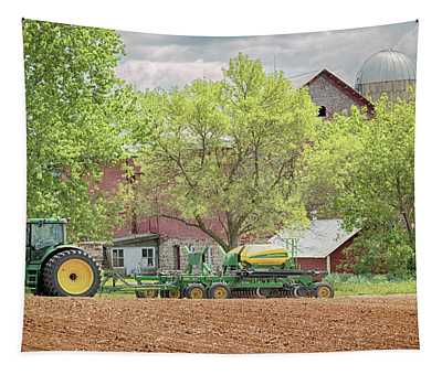 Deere On The Farm Tapestry