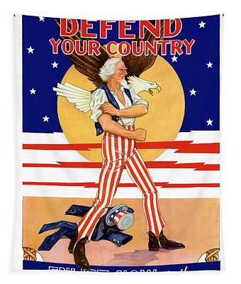 Defend Your Country Enlist Now  Tapestry