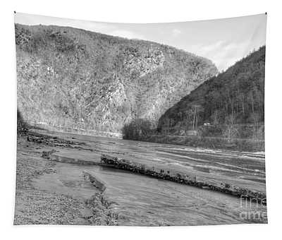 Delaware Water Gap In Winter Tapestry