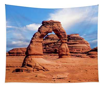 Delicate Arch From Lower Viewpoint Tapestry