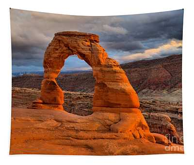 Delicate Arch Sunset Landscape Tapestry