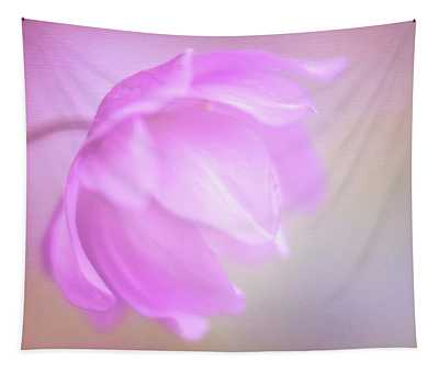 Delicate Pink Anemone Tapestry