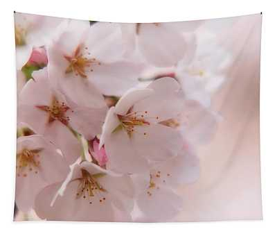 Delicate Spring Blooms Tapestry
