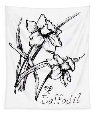 Delightful Daffodils Tapestry