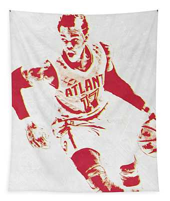 Dennis Schroder Atlanta Hawks Pixel Art Tapestry