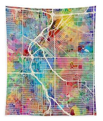 Denver Colorado Street Map Tapestry