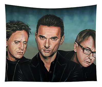 Depeche Mode Painting Tapestry