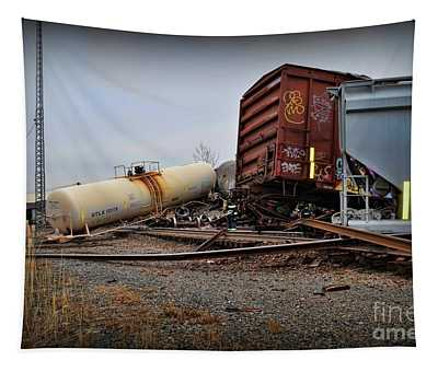 Derailed Train  Tapestry