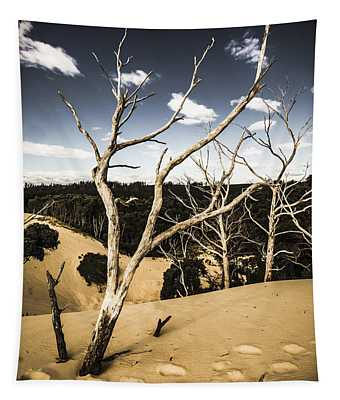 Desert In The Middle Of The Woods Tapestry