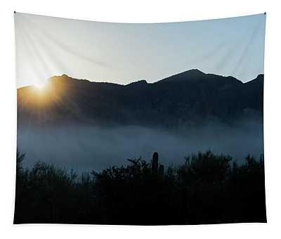 Desert Inversion Sunrise Tapestry