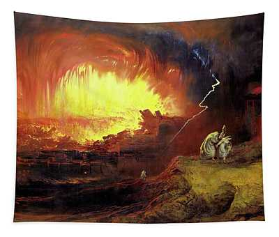 Destruction Of Sodom And Gomorah Tapestry