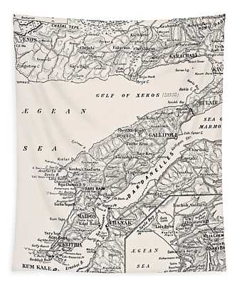 Detailed Map Of Gallipoli Peninsula And Tapestry