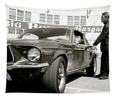 Detective Lieutenant Frank Bullitt, Steve Mcqueen, 1968 Ford Mustang Gt 390 Tapestry