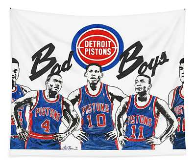 Detroit Bad Boys Pistons Tapestry