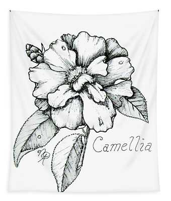 Dew Kissed Camellia Tapestry