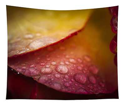 Dew On A Rose Tapestry