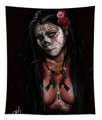 Dia De Los Muertos 3 Tapestry