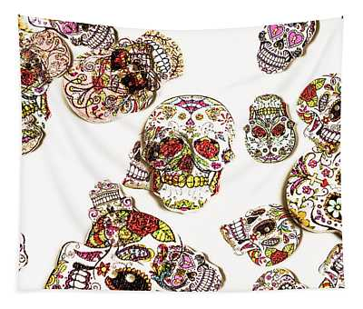 Dia De Muertos Tapestry