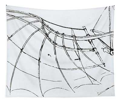 Diagram Of A Mechanical Wing Tapestry
