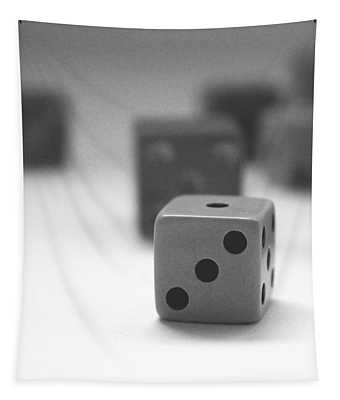 Dice 2- By Linda Woods Tapestry