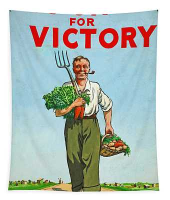 Dig On For Victory Tapestry