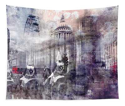 Digital-art London Composing II Tapestry