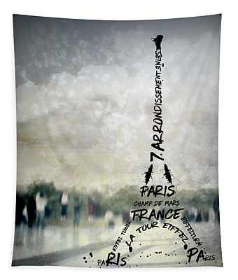 Digital-art Paris Eiffel Tower No.2 Tapestry