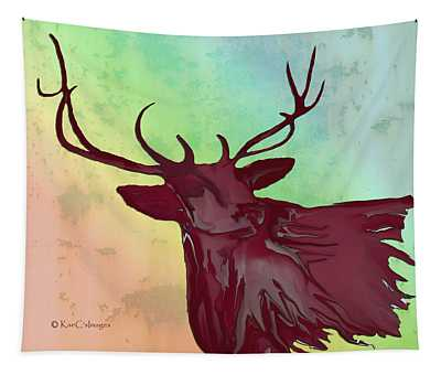 Digital Elk #1 Tapestry