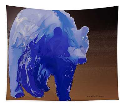 Digital Grizzly 2 Tapestry