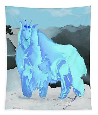 Digital Mountain Goat Tapestry