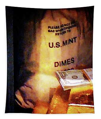 Dimes Dollars And Gold Tapestry