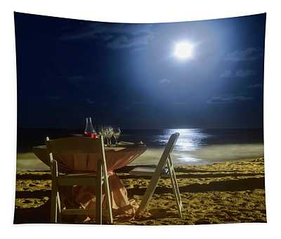 Dinner For Two In The Moonlight Tapestry