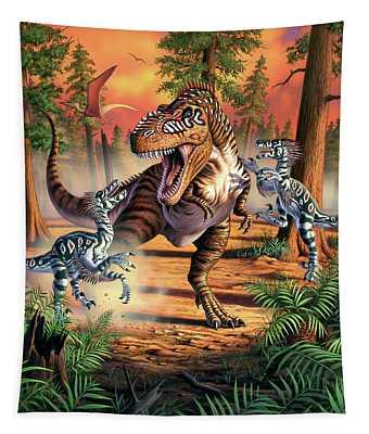 Dino Battle Tapestry