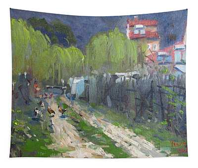 Dirt Road To Elida's Garden Tapestry