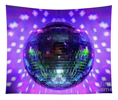 Disco Ball Purple Tapestry