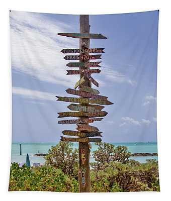Distance From Key West Tapestry