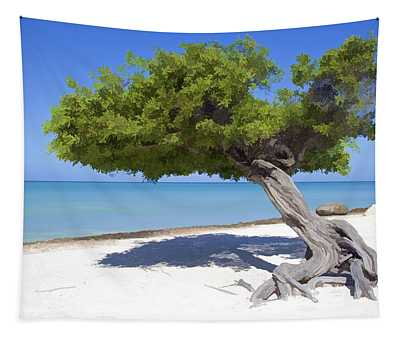 Divi Tree Of Aruba Tapestry