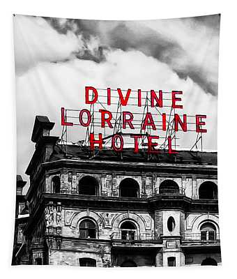 Divine Lorraine Hotel Marquee Tapestry