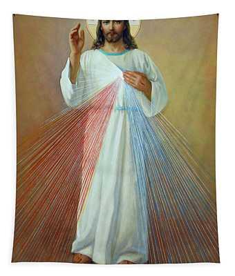 Divine Mercy - Jesus I Trust In You Tapestry