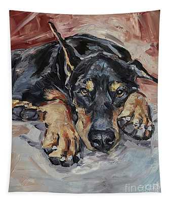 Doberman Pinscher Tapestry