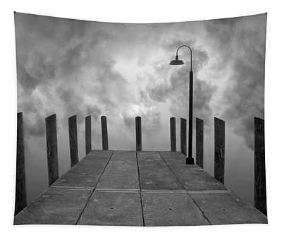 Dock And Clouds Tapestry
