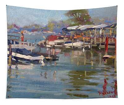 Dock In North Tonawanda Tapestry