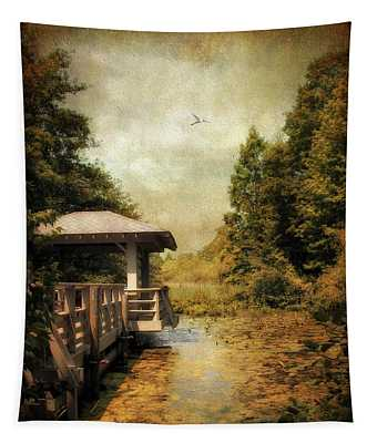 Dock Digital Art Wall Tapestries