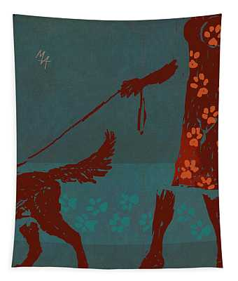 Dog Walker Tapestry