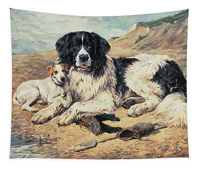 Dogs Watching Bathers Tapestry