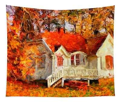 Doll House And Foliage Tapestry